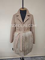 Пальто демисезонное с  блюфростом, размер 44/46, фото 1