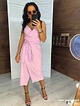 Женский сарафан с поясом на запах (в расцветках), фото 8