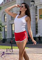 Женские летние шорты красного цвета