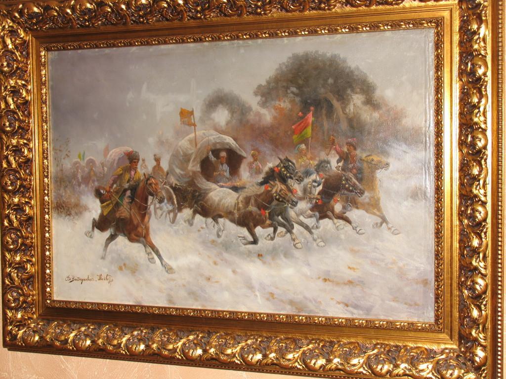 Картина Конная атака К.Стойлов-Баумгартнер  кон 19 века