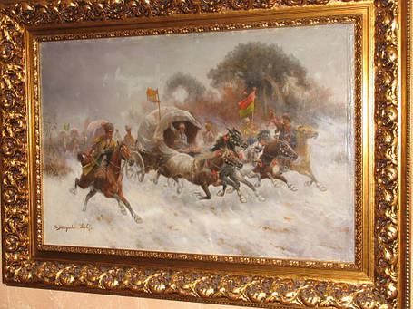 Картина Конная атака К.Стойлов-Баумгартнер  кон 19 века, фото 2