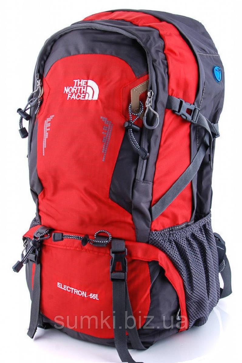 Туристический рюкзак The North Face 55L экспедиционный  красного цвета