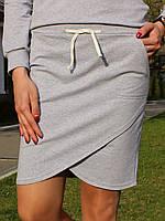 Серая спортивная юбка, фото 2