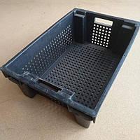 Ящик пластмассовый 600х400х200 (с перфорацией)