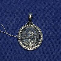 Серебряный кулончик Богородица с сыном 3751-ч, фото 1