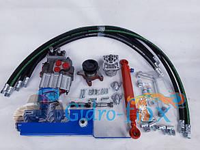 Комплект гидравлики для мини/мото трактора или мотоблока с 2-х золотниковым распределителем