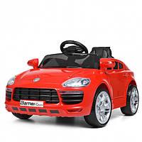Детский электромобиль Порш Porsche M 3272EBLR-3 красный (черный, белый), музыка, свет, колеса EVA, MP3.