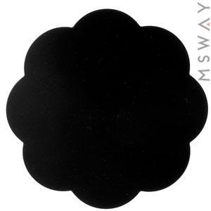 Коврик силиконовый черный цветочек 90х90мм для рисования, стемпинга, нескольжащий