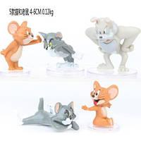 Фигурки героев мультфильма Том и Джерри 5 штук