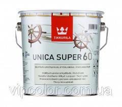 Tikkurila Unica Super 60 Уретано-алкидный полуглянцевый лак быстрого высыхания EP 2,7л