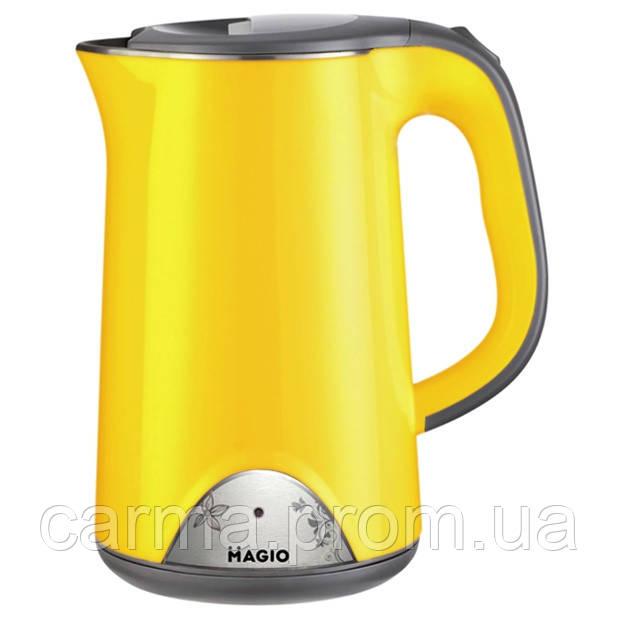 Электрочайник-термос Magio MG-515N Желтый