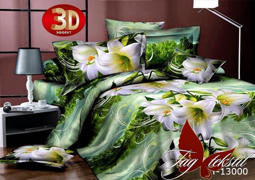 Постельное белье ТМ TAG/1.5-спальные/Поликоттон 3D CY13000