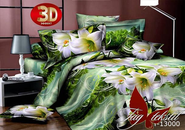 Постельное белье ТМ TAG/1.5-спальные/Поликоттон 3D CY13000, фото 2