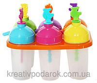Формочки для мороженного (с трубочкой, 6 форм)