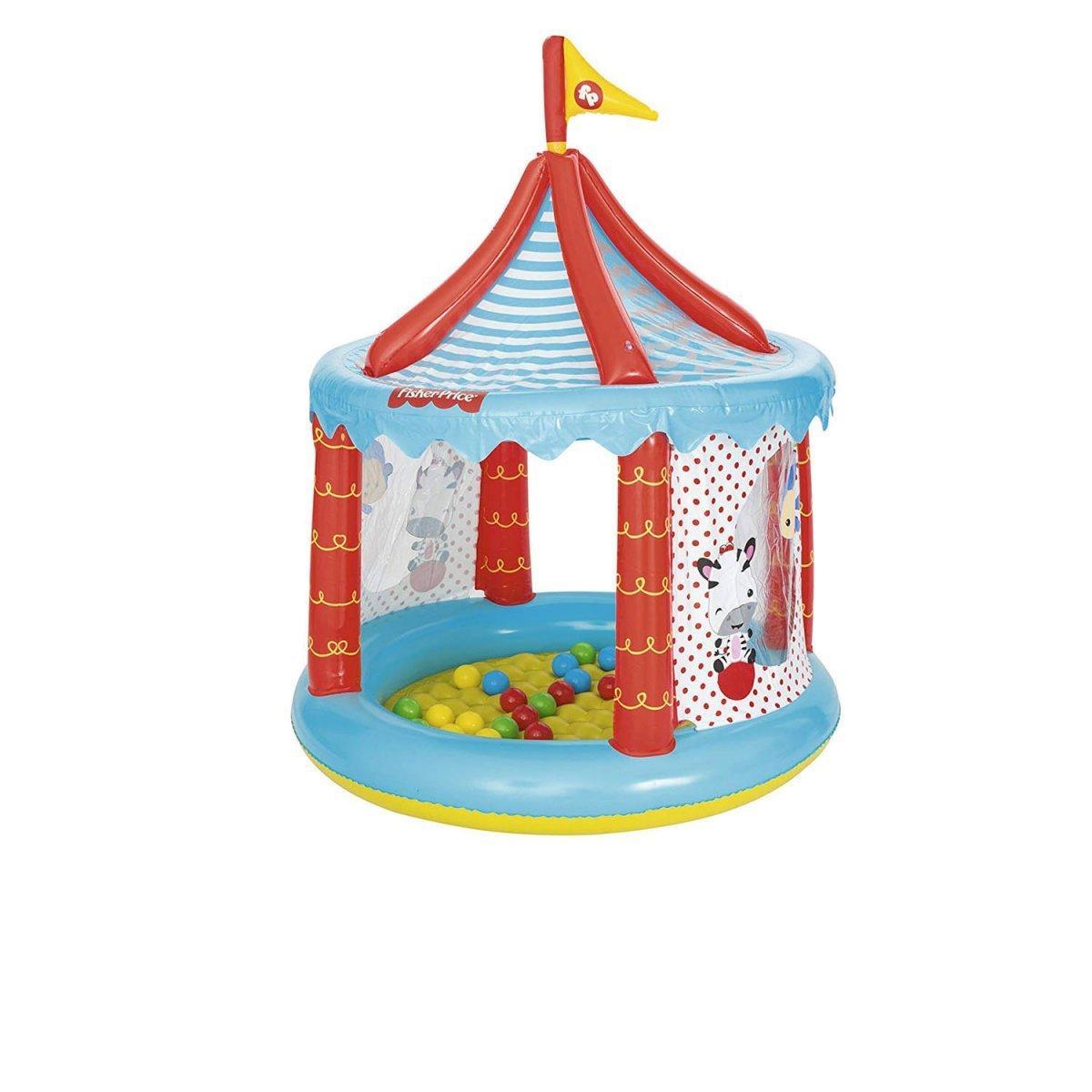 """Надувной игровой домик Bestway """"Цирк"""",с шариками 25 шт, 137х104 см (93505)"""
