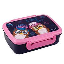 Ланчбокс Kite «Owls», харчовий пластик, для дітей