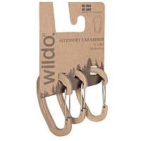 Аксессуарный карабин Wildo® (набор 3 шт.), coyote. Швеция, оригинал.