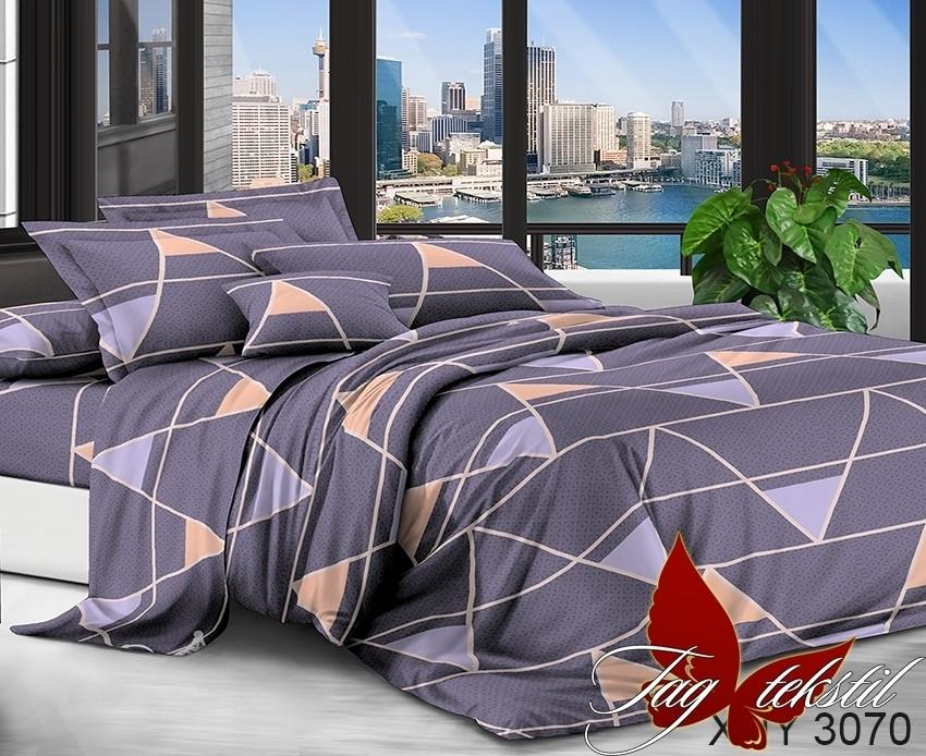 Постельное белье ТМ TAG/евро/Поликоттон 3D XHY3070