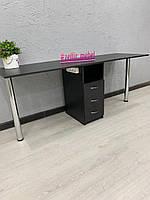 Стол для двоих мастеров маникюра в черном цвете