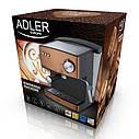 Кофемашина эспрессо Adler AD 4404 cooper 15 Bar, фото 4