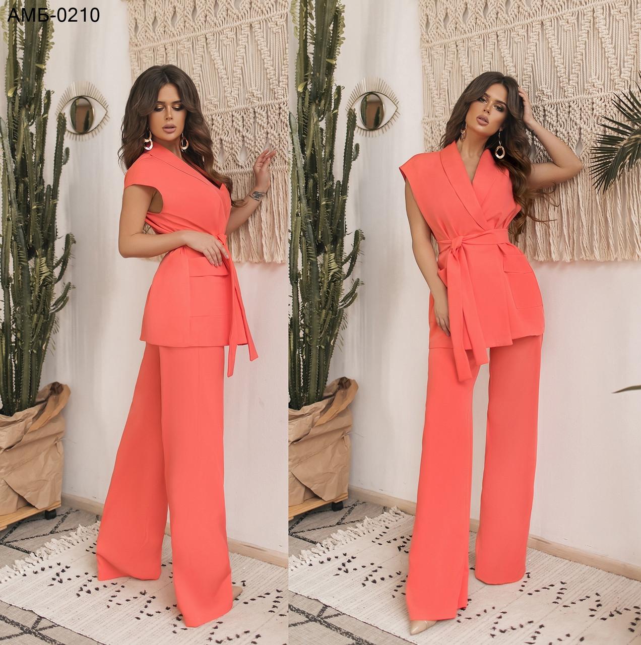 c57fce937c09 Стильный брючный женский костюм С, М +большие размеры В Расцветках -  Интернет-магазин