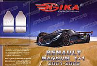 Чехлы автомобильные Renault Magnum 1+1 2001-2005 (тёмно-серые) VIP ЛЮКС Nika