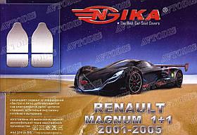Авточехлы Renault Magnum 1+1 2001-2005 (тёмно-серые) VIP ЛЮКС Nika