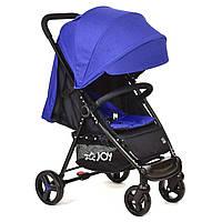 Детская прогулочная коляска с чехлом на ножки TM JOY Синяя арт. 200 Т
