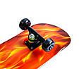 Скейтборд деревянный Scale Sports Yellow fire, фото 3