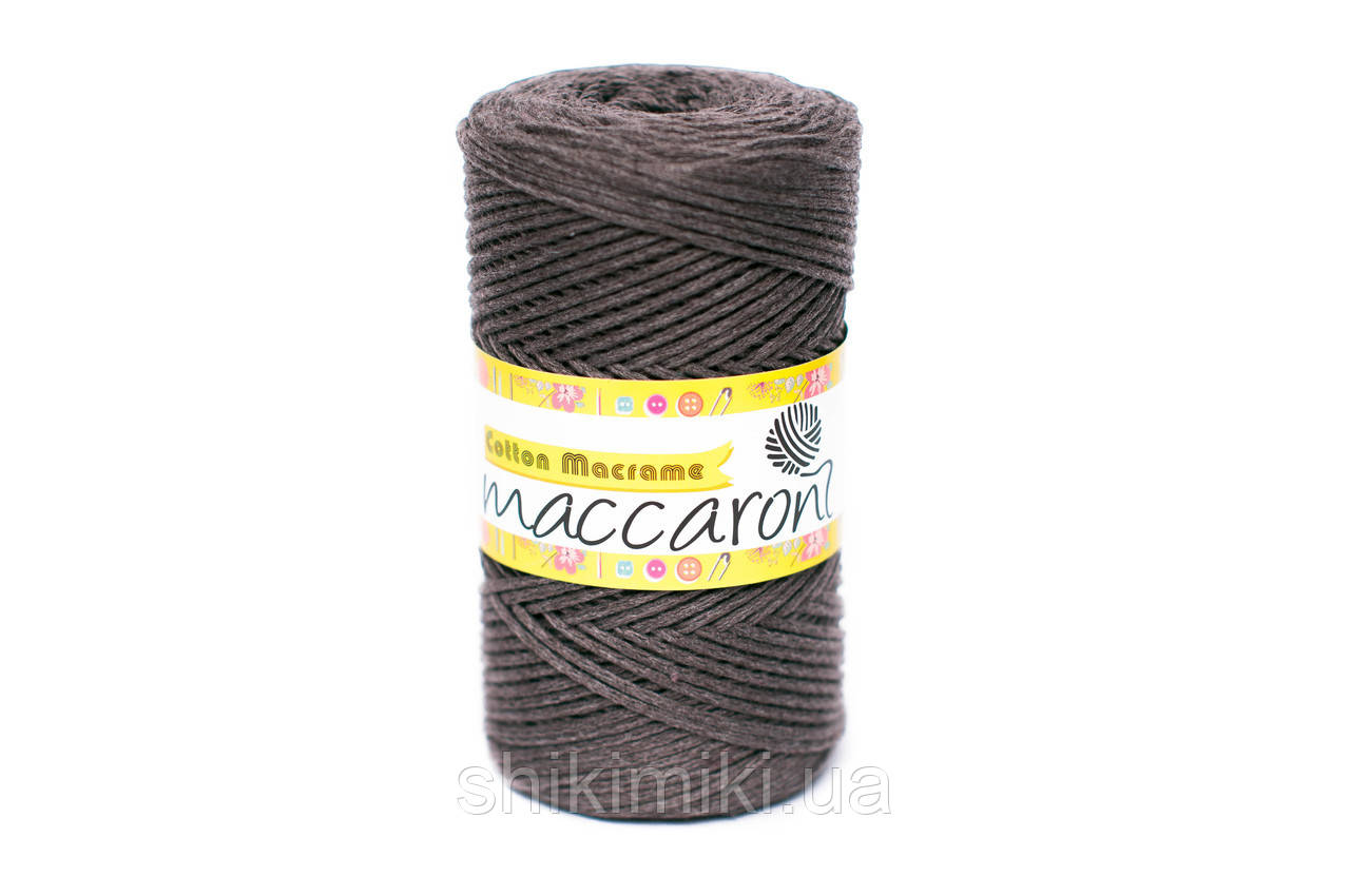 Эко Шнур Cotton Macrame, цвет Серо-коричневый