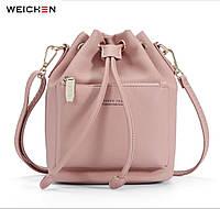 Женская модная сумка пыльно розовая WEICKEN