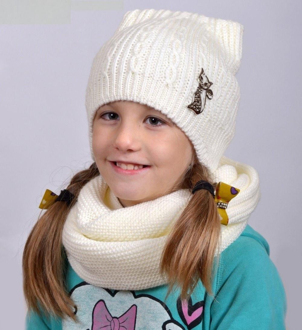 Зимняя шапка от 3-х лет, на флисе