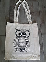Эко-сумка из хлопка с рисунком Сова