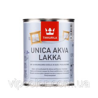 Tikkurila Unica Akva Lakka быстросохнущий лак для дерева EP 2,7л