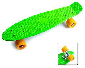 Пенни Борд Penny Board 22Д Салатовый цвет Матовые колеса