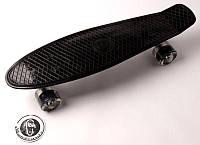 """Penny Board """"Fish"""" Черный. Светящиеся колеса 2."""