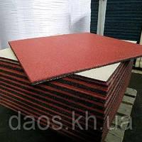 Резиновая плитка для гаража 1000х1000 мм. Толщина 10 мм