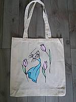 Эко-сумка из хлопка с рисунком Скрипачка