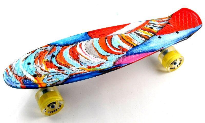 """Penny Board """"Funny elephant"""" Светящиеся колеса."""
