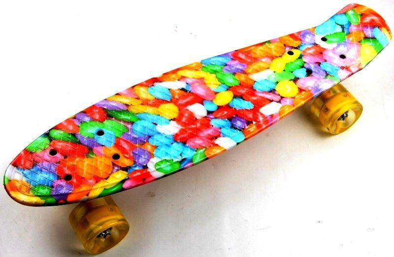 "Penny Board ""Caramel"" Светящиеся колеса"
