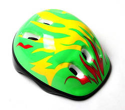Детский шлем зеленый огонь