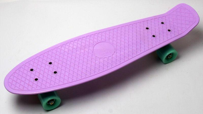 Пенни борд. Penny Board Nickel 27. Лиловый цвет. Матовые колеса.