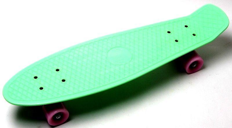 Пенни борд. Penny Board. Nickel 27. Мятный цвет. Матовые колеса.