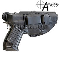 Кобура поясная A-line К3 для Форт-12, кожаная формованная, фото 1
