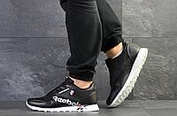 Чоловічі демісезонні кросівки Reebok, прес шкіра, чорно білі