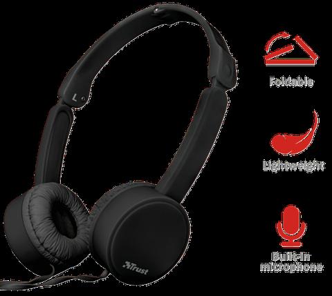 Наушники TRUST Nano Foldable Headphones Black, фото 2