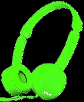 Наушники TRUST Nano Foldable Headphones Green, фото 2