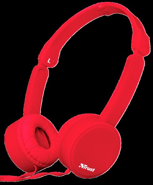 Наушники TRUST Nano Foldable Headphones Red