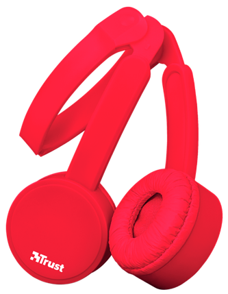 Наушники TRUST Nano Foldable Headphones Red, фото 2