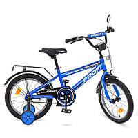 Велосипед детский PROF1 16д. T1673, синий, фото 1